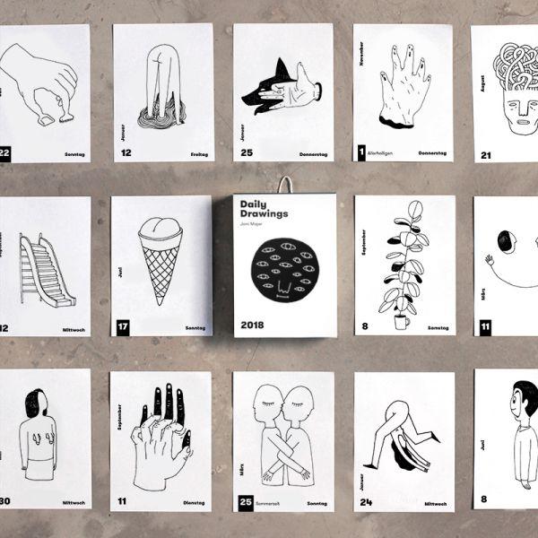 Drawing Calendar 2018 : Daily drawings calendar · coblisher